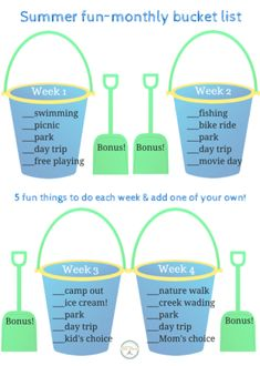 Easy, low key, not much preparating needed for you and your kids to have an awesome summer with lots of variety. Free printable summer bucket list.