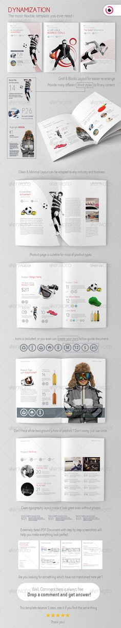 Buy Dynamization Brochure/Catalogue Template by on GraphicRiver. Magazine Layout Design, Book Design Layout, Print Layout, Travel Brochure Template, Design Brochure, Indesign Templates, Print Templates, Catalogue Layout, Graphisches Design