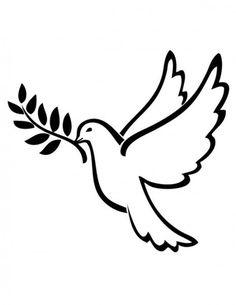 Colomba della pace Disegno da colorare