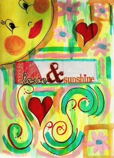Love and Sunshine Original Art Journal Page Digital Image Print by LaurasUniques on Etsy