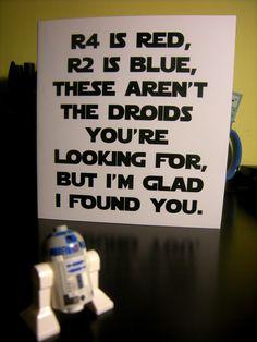 Star wars inspired Valentines (DIGITAL CARD). £2.00, via Etsy.