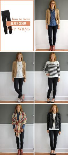 five things Friday: black jeans for every girl edition