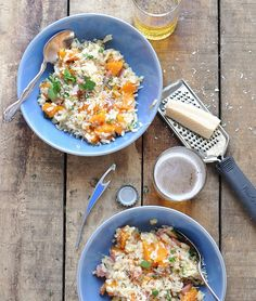Risotto with Squash and Pancetta: Risotto is probably my absolute favorite comfort food, if not one of the more time-consuming.