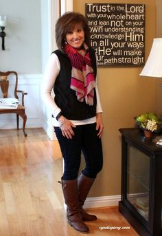 skinny jeans and boots for older women | What I Wore-My Style