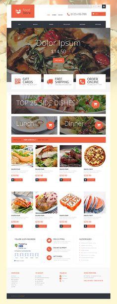 Template 52927 - Food Online  Responsive PrestaShop  Theme