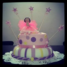 torta encantada de hada alada