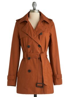 Love this burnt orange trench! I actually really like this coat.
