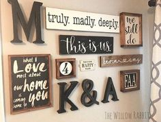 Farmhouse decor gallery wall | This is Us | Anniversary Gift | Bedroom Decor | Gallery Wall