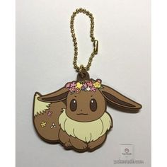 Pokemon Center 2018 Easter Campaign Eevee Rubber Keychain Charm With Egg (Version #2)  LOVE Pokemon? Visit us: www.PokeMansion.Com