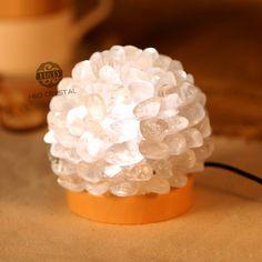 Crafts Night Sleeping Lights Unique LED USB Lava Lamp White Rock Crystal Quartz Lamp Emergency Light for Bedroom Creative Gift #Affiliate