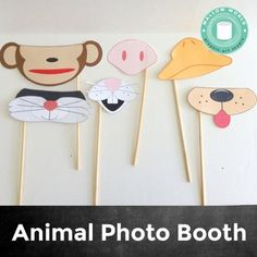 Animal Photo Booth Props. Great back-to-school activity for PreK and Kindergarten.