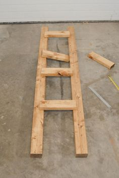 This ladder shelf will look nice with the map drawers in the swanky home office I don't yet have.