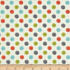 Designed by The Henley Studio for Makower UK, this cotton print fabric is perfect for quilting, apparel and home decor accents. Colors include cream, blue, grey, kiwi and orange.