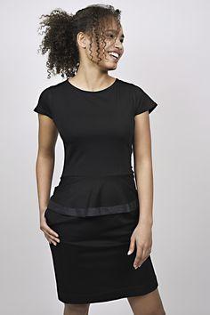 business look, management, reception, black dress, peplum, uniform, uniforms Business Look, Peplum Dress, Reception, Management, Black, Dresses, Fashion, Vestidos, Moda