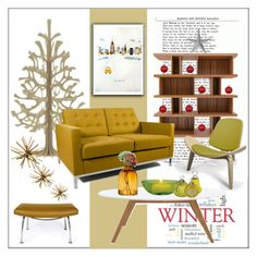 """""""Modern Twist on Christmas"""" by frenchfriesblackmg ❤ liked on Polyvore featuring interior, interiors, interior design, home, home decor, interior decorating, Rove Concepts, Cultural Intrigue, Shishi and Albie Designs"""