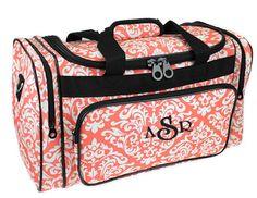 Monogram Duffle Bag | Damask Pattern