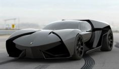 Ankonian by Lamborghini - can't help but think it should be parked in a bat cave.