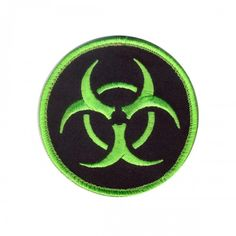 "Rothco Biohazard Morale Patch with Hook Back, 3.25"" Round"