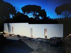 Copertura ruderi case arabe al Castello di Sao Jorge, Lisbona