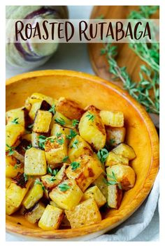 Simple Roasted Rutabaga - this is an easy recipe that really lets the flavor of this root vegetable shine Rutabaga makes a great side dish to most any fish or meat dish rutabaga roastedrutabaga sidedish easyrecipes Low Carb Side Dishes, Best Side Dishes, Vegetable Sides, Vegetable Side Dishes, Side Dish Recipes, Veggie Recipes, Vegetarian Recipes, Cooking Recipes, Healthy Recipes