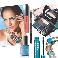 Today's #FOTD is inspired by the bold blues  teals from the Riviera.