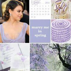 pantone violet tulip wedding #wedding #pantone #spring2014 #inspirationboard #lilac #violettulip