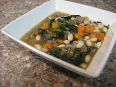 White Bean Spinach soup