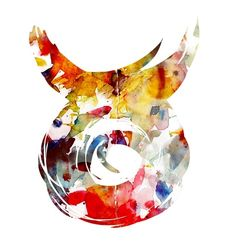 Taurus ♉ I am seriously contemplating getting this as a tattoo. <= Update: I will be! I am planning to get this similar design as a watercolor tattoo right above my right ankle.