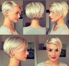 Speciaal voor alle dames die dit voorjaar voor een korte blonde coupe willen gaan hebben wij super gave ideetjes! Laat je inspireren door deze 10 prachtige korte blonde modellen! - Kapsels voor haar