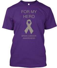 Bran Cancer Awareness shirts for a good cause! Please pass this around so we can raise lots of money!! Brain Cancer Fundraiser | Teespring