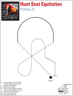 Practice your skills with this pattern from the hunt seat equitation finals