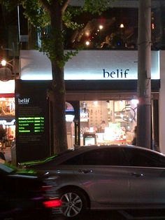 Belif shopfront in Apgujeong district of Seoul