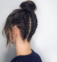 hairstyles with afro puff hairstyles over 50 hairstyles african american hair hairstyles on short natural hair hairstyles hairstyles homecoming hairstyles directions hairstyles wedding Curly Hair Updo, Braided Bun Hairstyles, Braids For Long Hair, Braided Updo, Braided Hairstyles, Curly Hair Styles, Natural Hair Styles, Homecoming Hairstyles, Ghana Braids