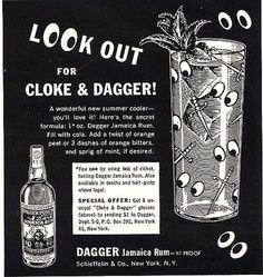 Dagger's Jamaican Rum Old Ads, Orange Peel, Jamaica, The Secret, Rum Rum, Cocktails, Alcohol, Mint, Spirit