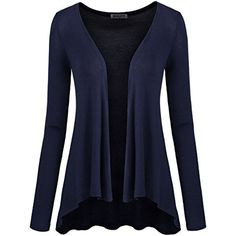 Womens Fitted No button Long Sleeve Summer Wear Cardigan * You can find out more details at the link of the image. (This is an affiliate link) #Sweaters