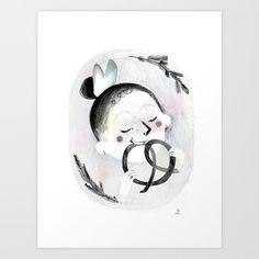 Pretzel Art Print by milleduc Illustrations, Art Prints, Art Impressions, Illustration, Art Print, Illustrators, Drawings