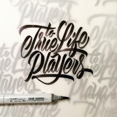 Lettering with a Copic Sketch marker! By Neil Secretario  You can follow him on Instagram @neilsecretario