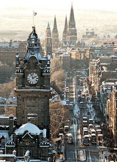 Edinburg, Scottland - what a beautiful town, wouldn't mind going here one day