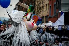 """Bei der Basler Fasnacht tragen alle Aktiven """"Larven"""" – keine Angst, so nennt man hier die Fasnachts-Masken"""