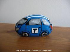 "ARTSANAT D'ART: Galet peint ""Voiture Gordini"" - Ref N° 170 - Prix 10 Euros"