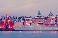 Much like Paris, I could get on board with spending Christmas in Sweden. It looks like. what Christmas should look like :) {Image via The Swede Records} Swedish Christmas, Noel Christmas, Scandinavian Christmas, Christmas Lights, Xmas, Visit Stockholm, Stockholm Sweden, Christmas Scenery, Sweden Travel
