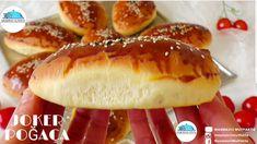 DİKKAT‼BU POĞAÇAYI 1 GÜN ÖNCEDEN YAPIN ERTESİ GÜN ELİNİZ HAMURA DEĞMEDEN PİŞİRİN🔝JOKER POĞAÇA❗ - YouTube Turkish Recipes, Ethnic Recipes, Delicious Desserts, Yummy Food, Joker, Hot Dog Buns, Baked Potato, Bread Recipes, Hamburger