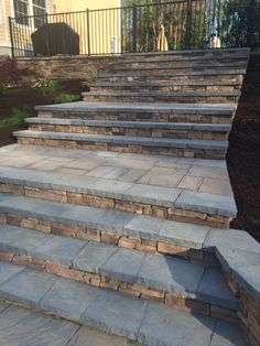 Merveilleux Rocko Landscape And Construction Beautified The Entrance To This House With  Steps Made With Cambridge Pavers.