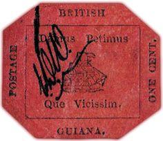 """Am 17. Juni 2014 wird das einzig erhaltene Exemplar der """"British Guiana One Cent"""" bei Sothebys versteigert, es wird ein Rekorderlös erwartet..."""
