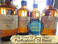 Homemade version of Purification Oil Blend -- room deodorizer / cat litter deodorizer.