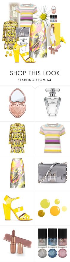 """Like a Daisy"" by ohnoflo ❤ liked on Polyvore featuring Too Faced Cosmetics, Avon, Giambattista Valli, Allude, Rochas, Proenza Schouler, Laurence Dacade, By Terry, rochas and GiambattistaValli"