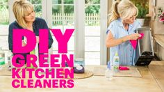 Today I'm in the kitchen showing you how to make your own kitchen cleaners! I love making my own cleaning products - It's so easy (seriously) and it's a great way to keep chemicals out of your home! I start with awesome disinfectant wipes that are non-toxic and are reusable. If you don't want to use a bamboo towel as your wipe, you can also use an old towel or t-shirt. I'm also making a stainless steal cleaner that will cost you only a dollar to make! Check out this DIY on my YouTube…