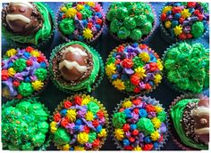 #easter #baking #cupcakes #eastercupcakes #cake #cupcake #cakes #chocolate #icing #buttercream #colourful #rainbow #chocolatecupcakes