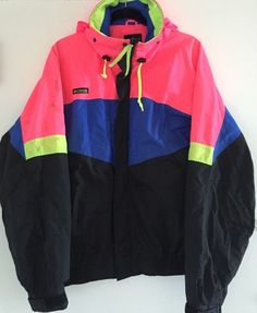 Vintage 90 S Roffe Crazy Neon Day Glow Swag Hip Hop