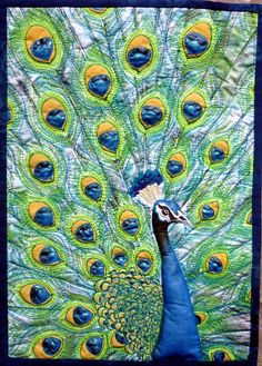 Peacock by Stephanie Crawford - journal quilt